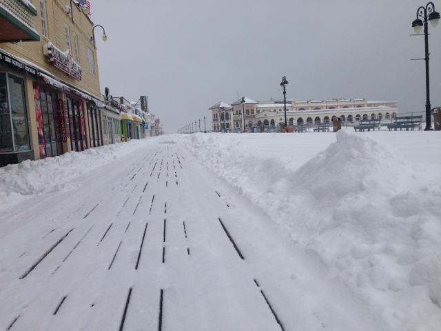 Ocean City Digs Out From March Snow Ocnj Daily