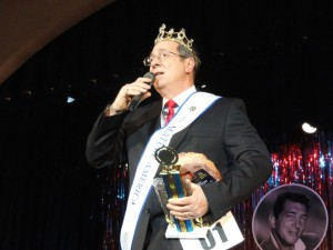 Frank Faralli Jr., 61, of Cape May Court House, is crowned the first Mr. Mature America, after the inaugural pageant March 22, 2014 on the Ocean City Music Pier.