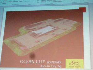 Proposed skate park design.