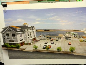 Design for a proposed marina on the bay in Ocean City near 10th Street.