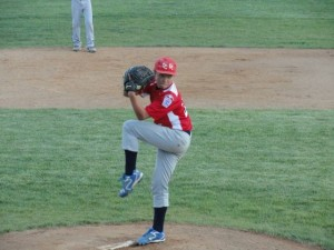 Brian Furey pitched five effective innings against a strong Toms River team.
