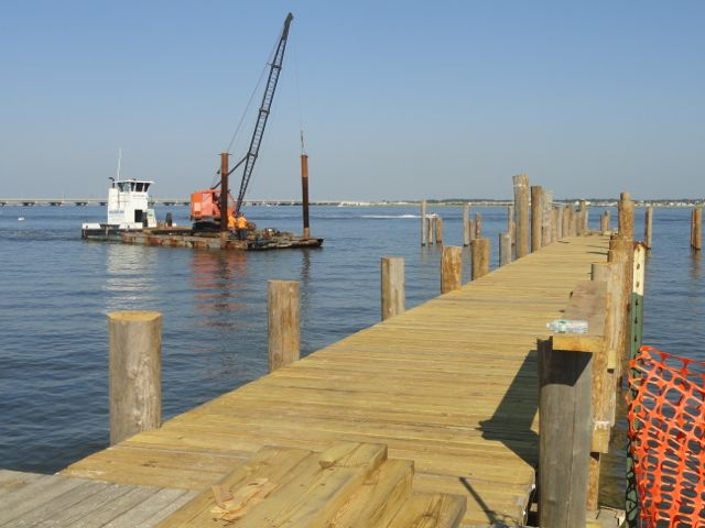 Fishing pier on bay at 2nd street returns two years after for Surf city pier fishing report