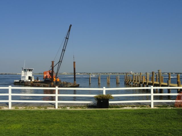 Fishing pier on bay at 2nd street returns two years after for Ocean city nj surf fishing report