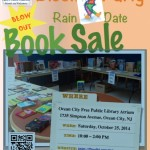 Block Party Rain Date Book Sale on for Saturday
