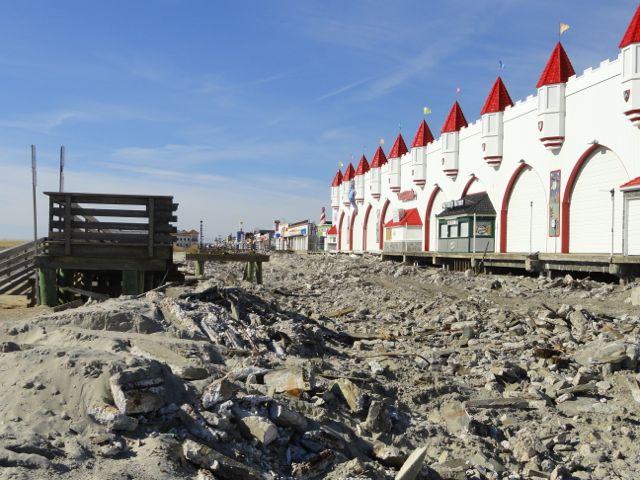Boardwalk demolition proceeding quickly in ocean city for Ocean city nj surf fishing report
