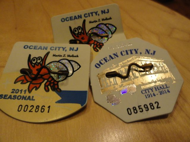 Samples Of Ocean City Beach Tags From Prior Years This Year S Design Features The Historic U Life Saving Service