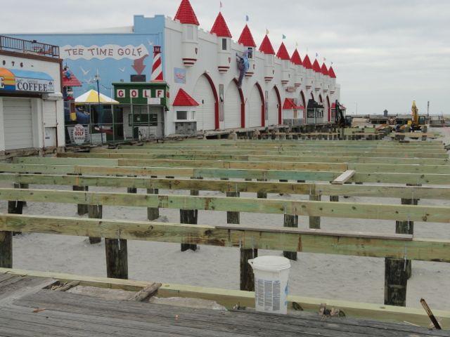 Photo update bridging the gap in boardwalk reconstruction for Ocean city nj surf fishing report