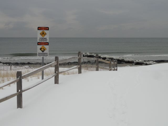 Ocean city gets 5 inches of snow and waits for record cold for Ocean city nj surf fishing report