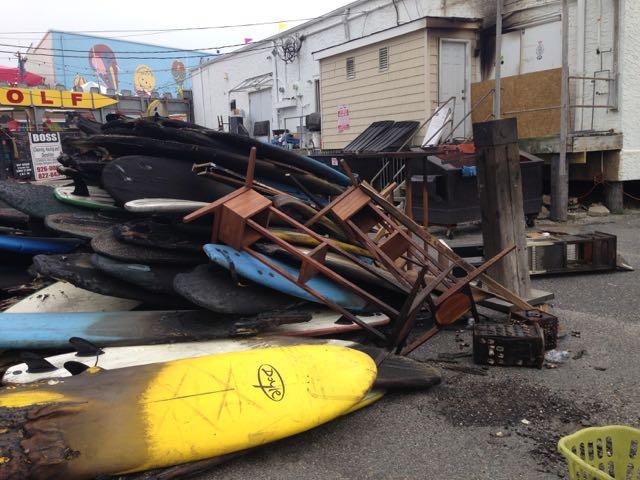 Ocean City Boardwalk Fire Charred 7th Street Surf Shop Inventory