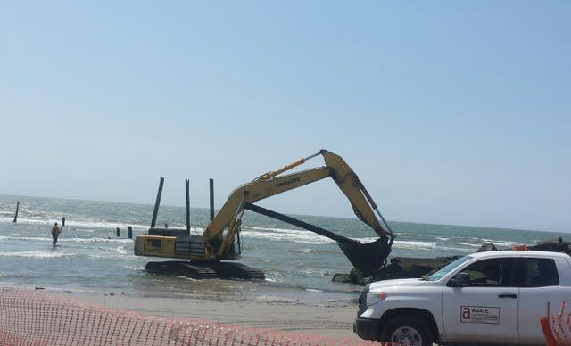 Last remnants of 59th street pier gone in ocean city for Ocean city nj surf fishing report