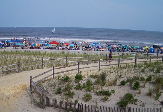 Ocean city surf cams beach cams and boardwalk cams ocnj for Ocean city nj surf fishing report