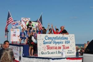 Ocean City Baby Parade 2015 Special Olympics triathlon team