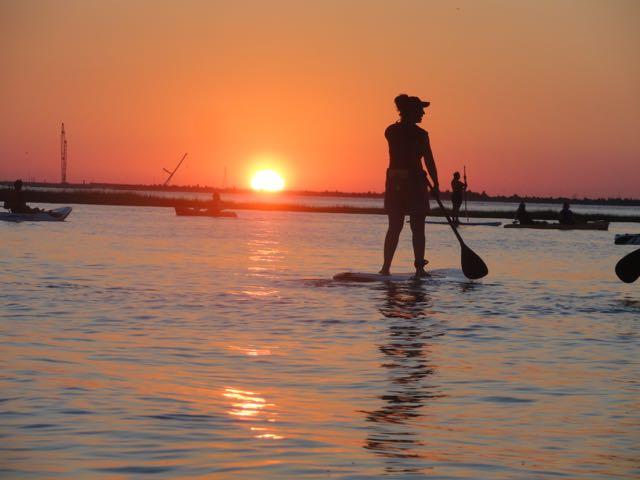 Photo gallery sunset moonrise paddle in ocean city ocnj for Ocean city nj surf fishing report