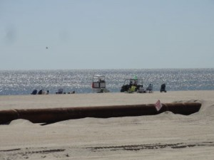 The beach at 57th Street will be guarded this week by the Ocean City Beach Patrol.