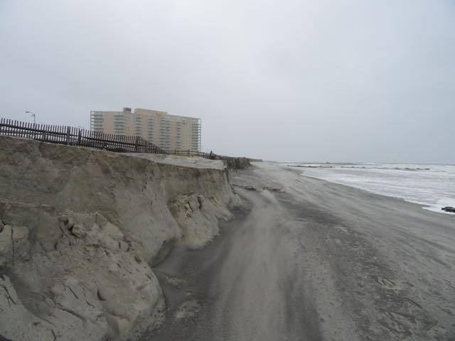 Gale leaves major erosion of ocean city beaches ocnj daily for Ocean city nj surf fishing report