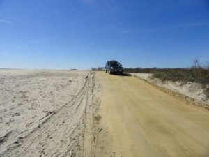 The vehicle and pedestrian entrance to Corson's Inlet State Park at the 59th Street end of Central Avenue is back open.