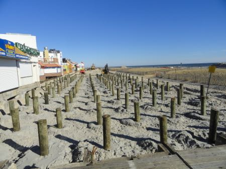 Beach and boardwalk projects continue in ocean city ocnj for Ocean city nj surf fishing report