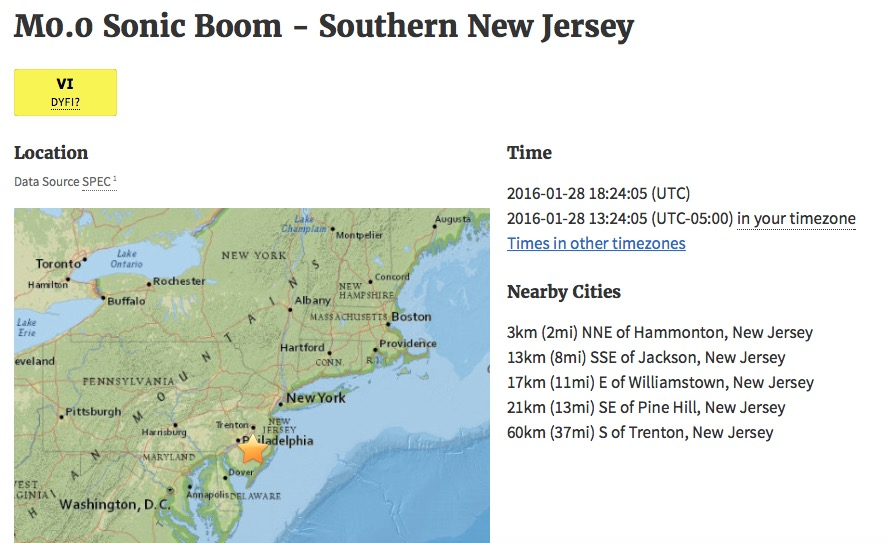 What is a sonic boom? 'Tremors' shake up New Jersey residents