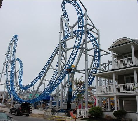 Construction Progresses On New Roller Coasters At Castaway