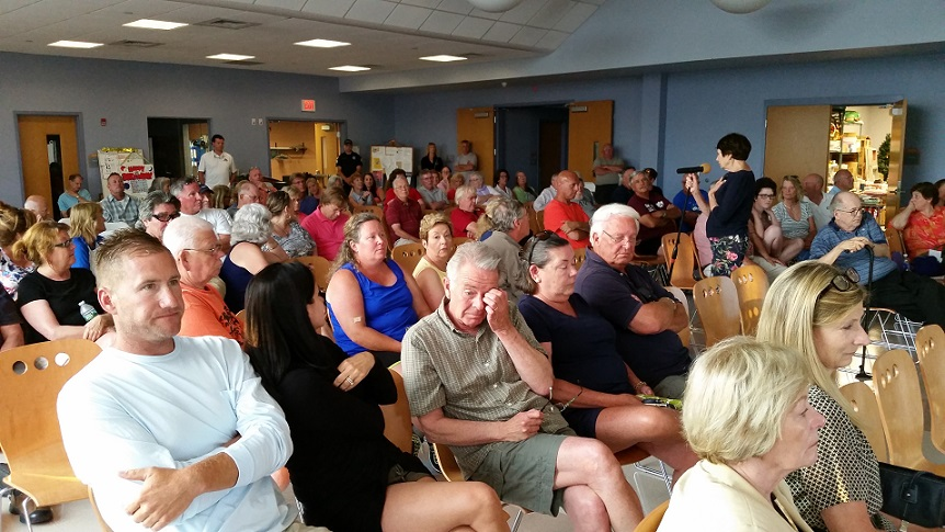 More than 100 people turned out Thursday for a public forum on Ocean City's plan to build affordable housing on vacant land on Haven and Simpson avenues.