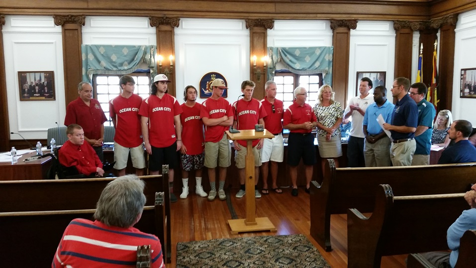The Ocean City High School Red Raiders championship baseball team was honored by City Council on Thursday.