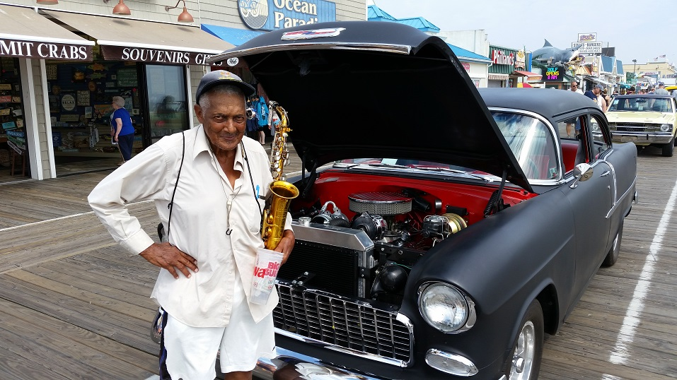 One of the show's spectators, 83-year-old Adrian Crump, of Hackensack, admired a 1955 Chevy that reminded him of his youth.