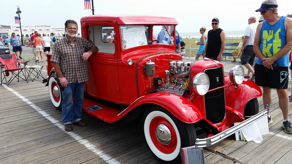 John Stine III, of Chester Springs, Pa., says his meticulously restored 1934 Ford pickup truck draws a lot of attention when he drives it around.