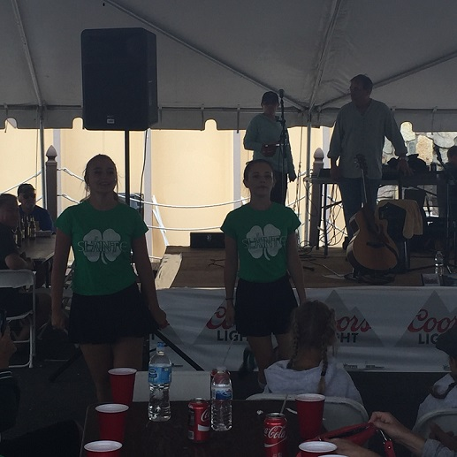 Allison and Madison entertained the crowd.