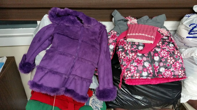 Children's coats are among the articles of clothing that are particularly needed this winter.