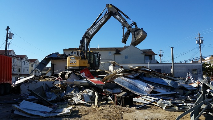 The blighted former Exxon gas station was demolished in November to make room for the proposed $2 million corporate headquarters for Keller Williams.