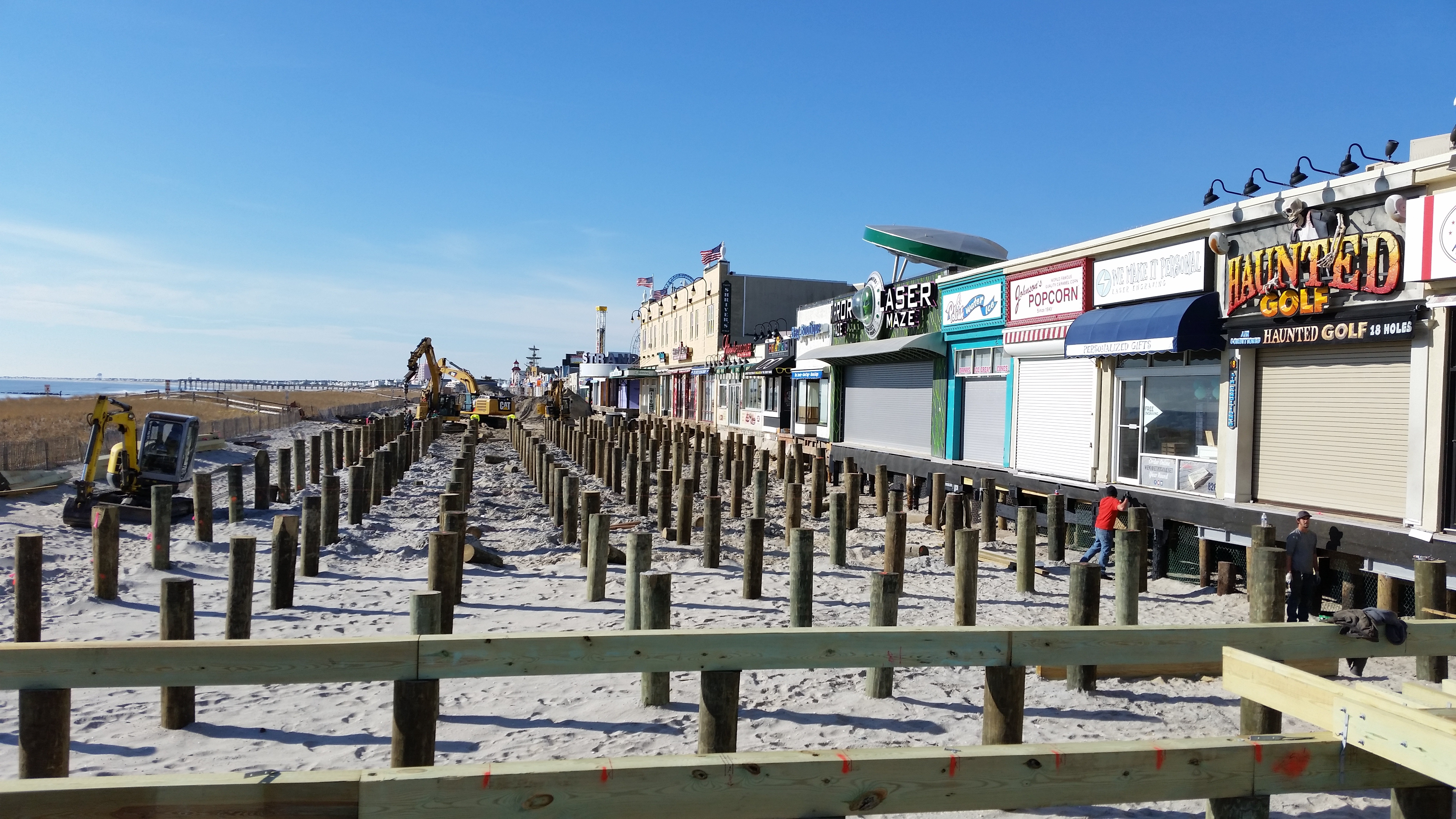 Ocean city s boardwalk gets a facelift for the new year for Ocean city nj surf fishing report