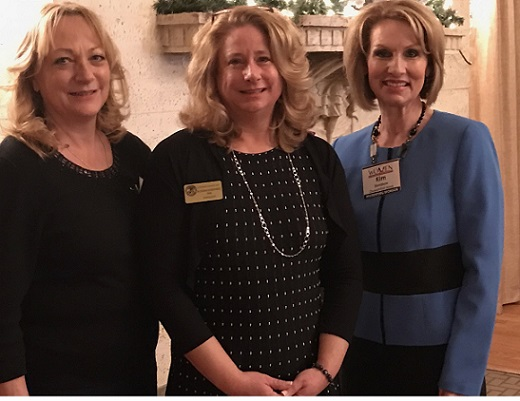 Karen Bergman, Ocean City Council member and Catering Director of the Flanders Hotel, host for the event, Sue Sheppard Cape May County Surrogate and Kim Davidson Secretary of the Ocean City Chamber of Commerce.