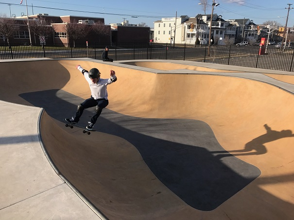 Nick Oteri, a Junior at OCHS catches some air at the skate park on Sunday.