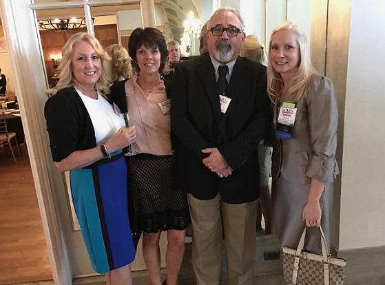 Tracy Iwaszkiewicz of South Jersey Industries, Lori Carlin of M Broadley; Keith Symonds of Varsity Inn and Tammy Garrison of South Jersey Industies were on hand for the Women in Business Conference.