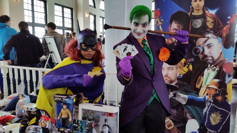 Jamila Howard, as Batgirl, and Kevin DiPacido, as the Joker, strike a pose.
