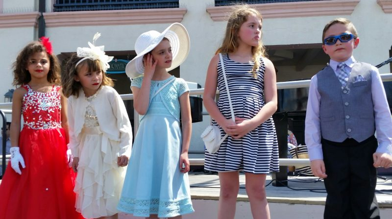 Children show off their Easter best while competing in their age groups.