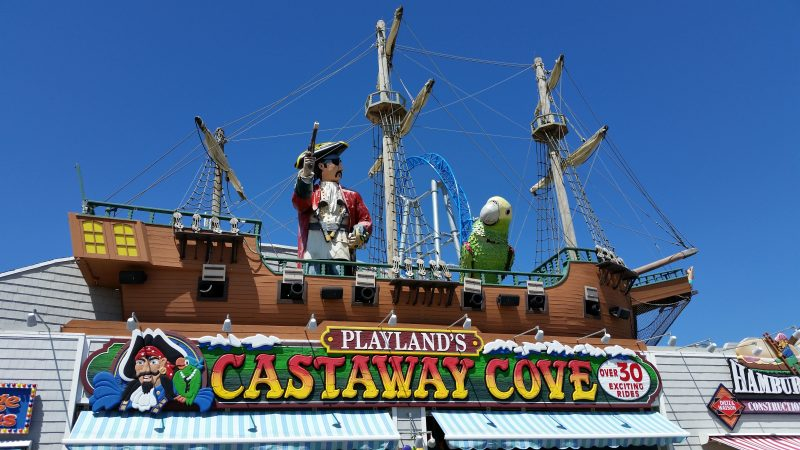 The iconic pirate ship greets visitors entering the amusement park on the Boardwalk.