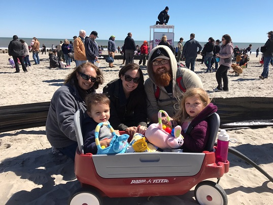 The Upshaw Family - Kurt and Leanne with their children Mia 3yrs old and Luca 2yrs old. Also shown is Linda Duca, Leanne's mother.