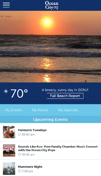 Have you tried out the new ocean city nj vacation app for Ocean city nj surf fishing report