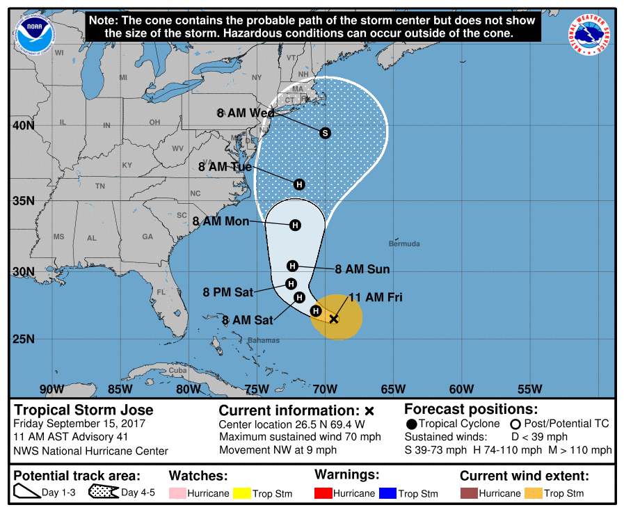 Tropical Storm Maria upgraded to Category 1 storm