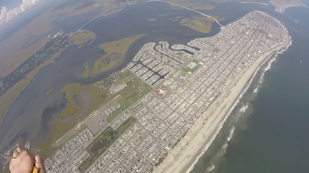 Skydiver Gopro Video Of Jumping Into Ocean City Nj Must