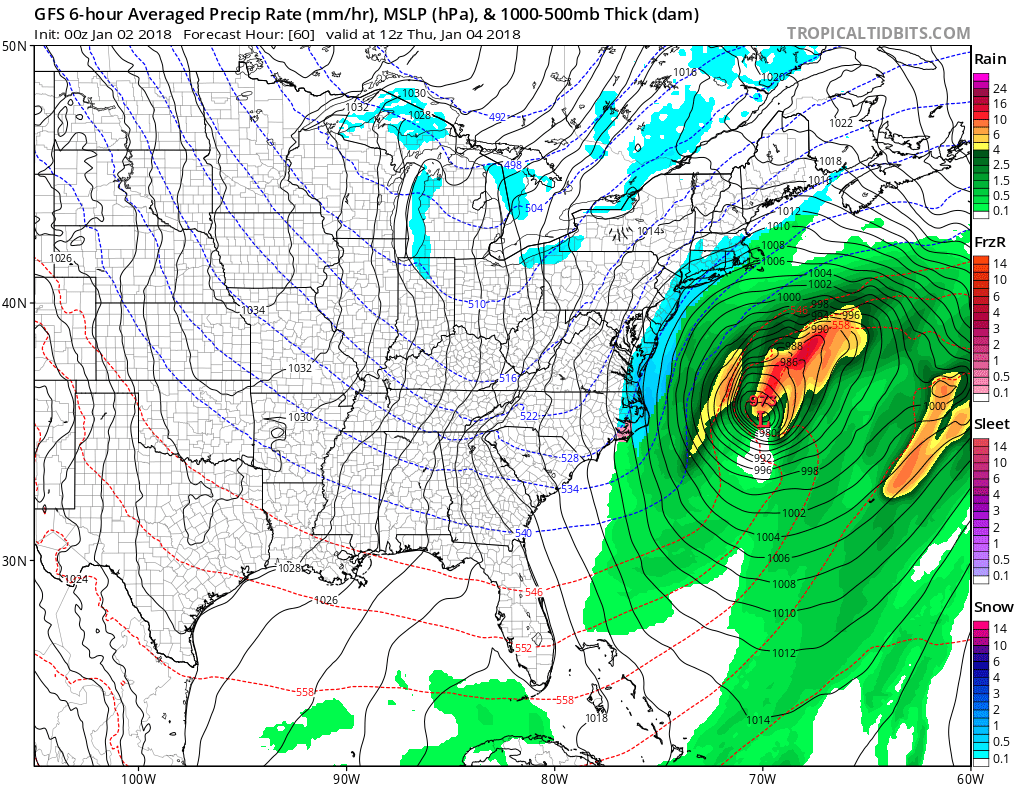 Nor'easter to bring snow, high winds Thursday