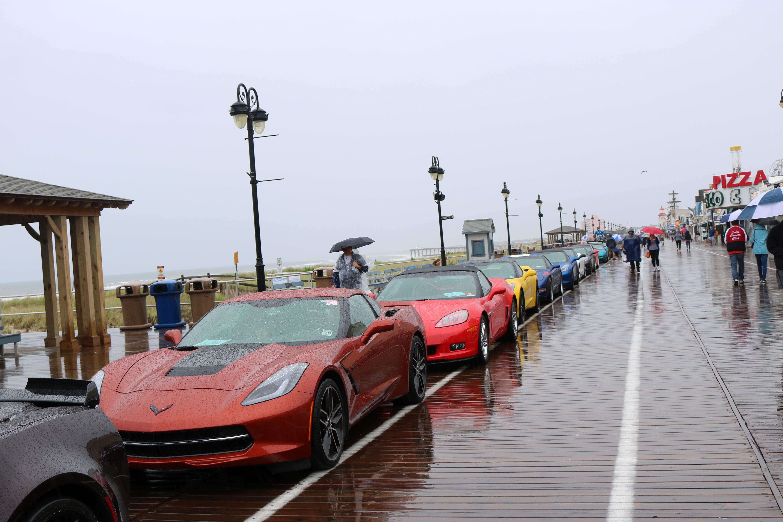 Diehard Car Buffs Brave Rains For Ocean City Corvette Show OCNJ Daily - Ocean city car show 2018